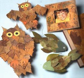 """Очень хочется поделиться уроком на тему  """"Поделки из листьев """"."""