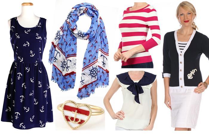 Морской стиль в одежде: фасоны, расцветки, аксессуары