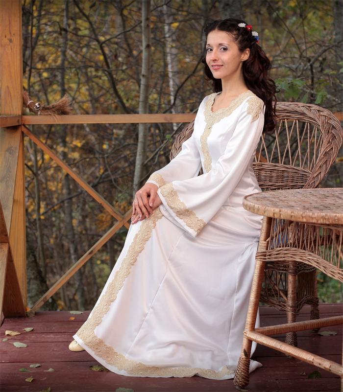 Свадебные платья в славянском стиле