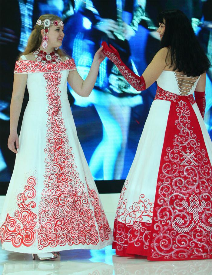 Славянское платье купить свадебное