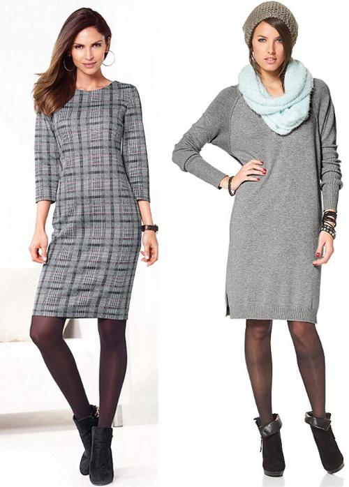 50 оттенков серого: нескучные платья для офиса и дома