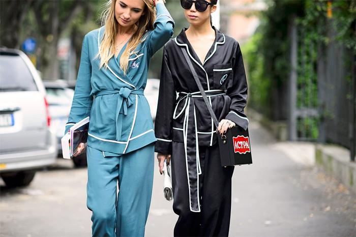 Оригинальные образы в пижамном стиле