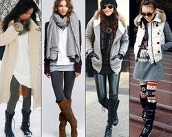 С чем носить леггинсы: стильные зимние ансамбли